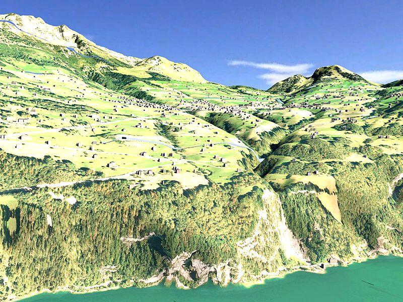 Vermessung und Geomatik: 3D Stadt- und Landschaftsmodell