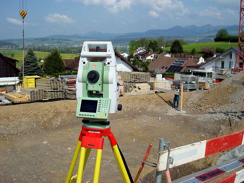 Vermessung und Geomatik: Bauvermessung zur Unterstützung des Bauunternehmers und als Kontrolle