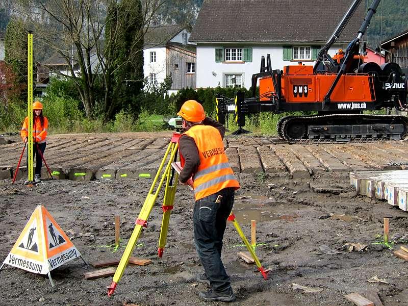 Vermessung und Geomatik: Setzungsmessungen mittels Nivellement